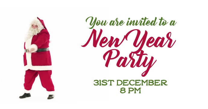 New Year party invite