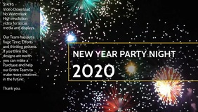 New Year Party Night 2020 poster