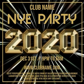New Year Party Night Template