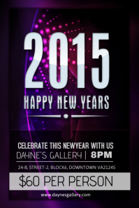 New Year Party. New Years Flyer