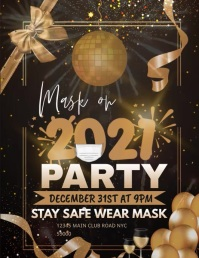 New Year Party Template Flyer (US Letter)