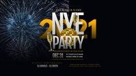 New Year Party Twitter Post Twitter-opslag template