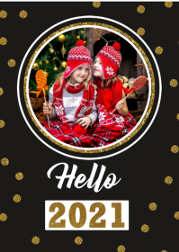 New Year Photo Card A6 template