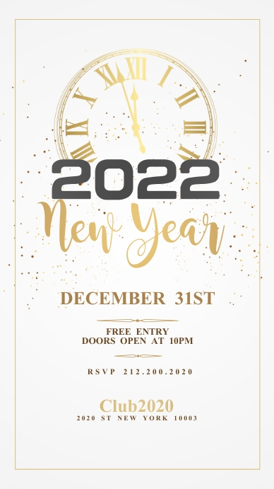 New Year Poster, Happy New Year Instagram Story template
