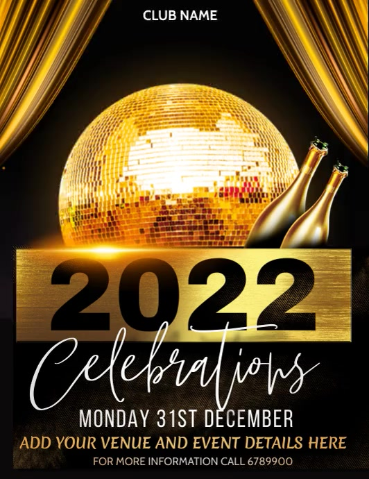 New year poster template,Event poster template
