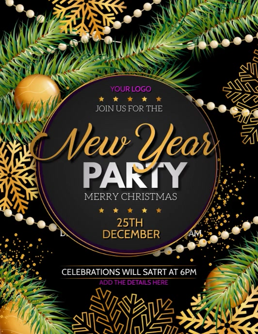 New year poster template,new year party