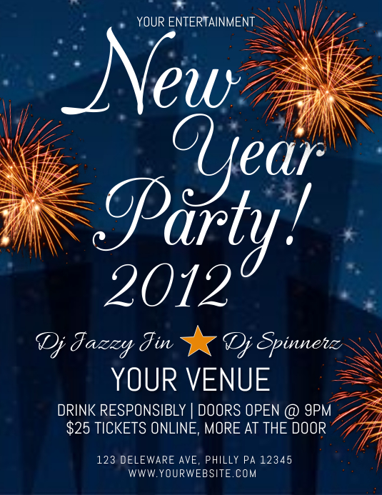 NEW YEAR Flyer (US Letter) template