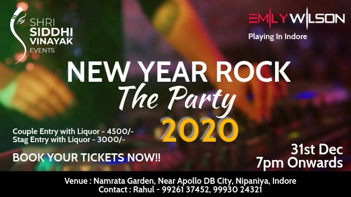 New Year Rock Party Poster