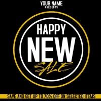 NEW YEAR SALE AD SOCIAL MEDIA TEMPLATE Iphosti le-Instagram