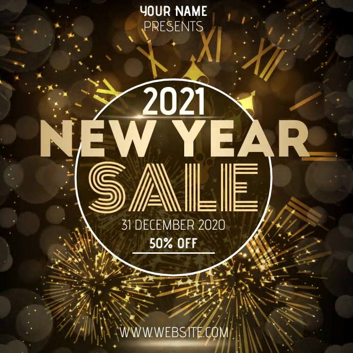 NEW YEAR SALE AD SOCIAL MEDIA TEMPLATE