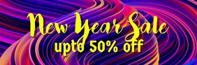 New year sale banner template