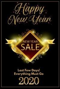 New Year Sale Poster template