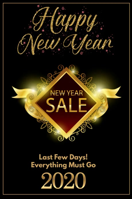 New Year Sale Plakat template