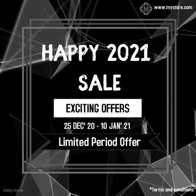 new year sale digital video template Album Cover