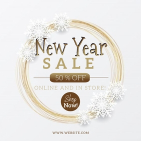 New Year Sale Event Flyer template 方形(1:1)