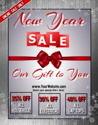 New Year Sale Online Affiche/Panneau mural template