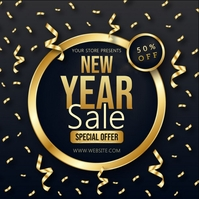 new year SALE SQUARE POST TEMPLATE