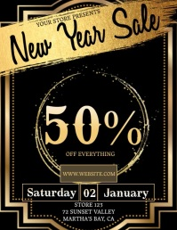 new year SALE TEMPLATE DIGITAL Flyer (US Letter)