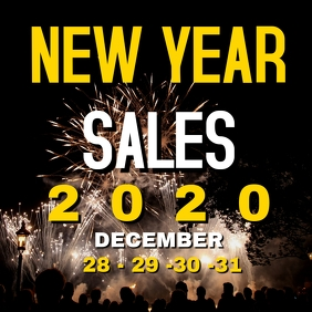 New year sales 2020 instagram post