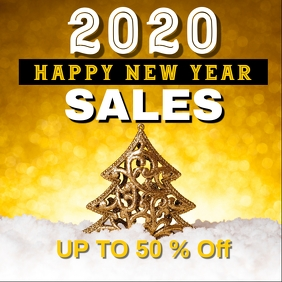 new year sales / end of the year sales Wpis na Instagrama template