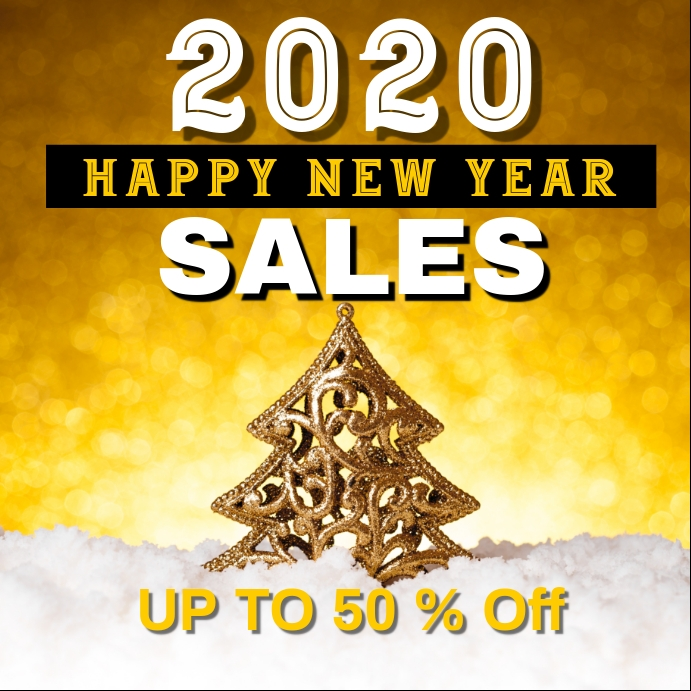 new year sales / end of the year sales Post Instagram template