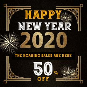 New year sales instagram post template