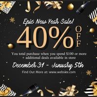 new year Season Sale Flyer Template Message Instagram