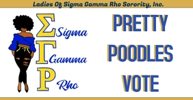 Sigma Gamma Rho pretty poodles go vote Facebook Event Cover template