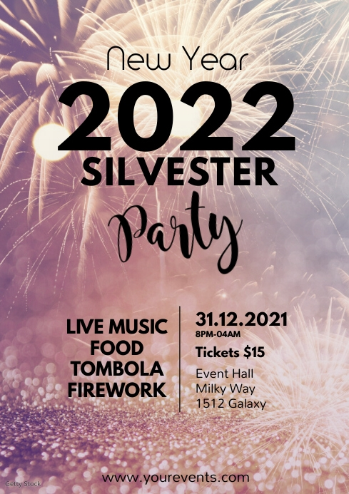 New Year Silvester Party Event Celebration Ad