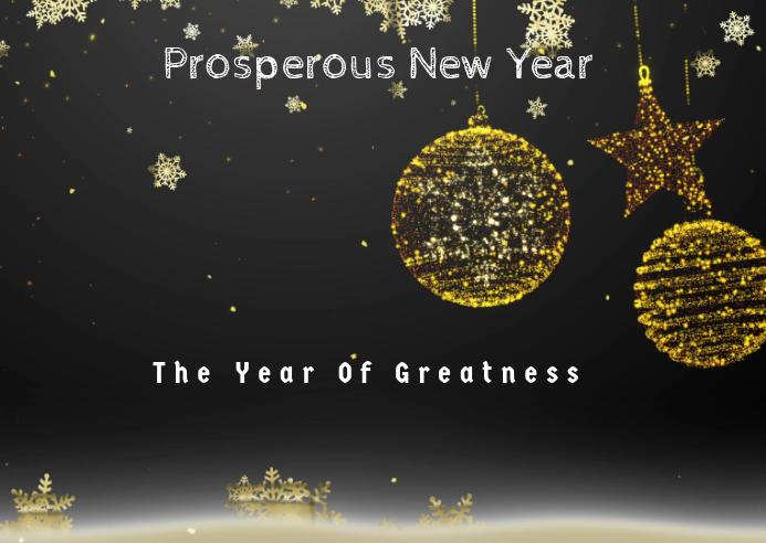New Year Template Kartu Pos