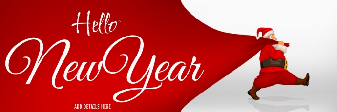 New Year Template Encabezado de Twitter