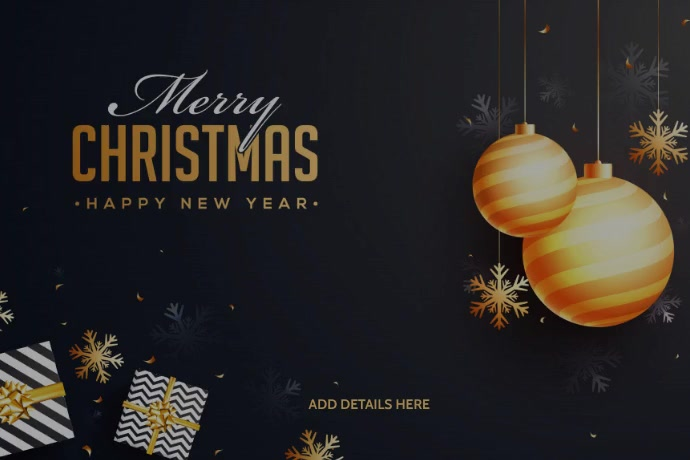 New Year Template Banner 4 x 6 fod