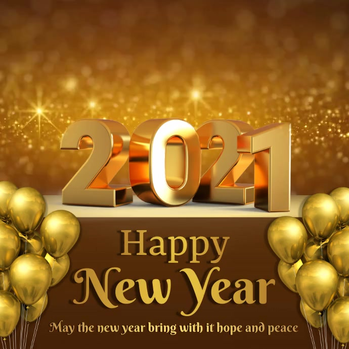 New year video greeting Pos Instagram template