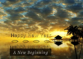 New Year Video Postcard Template