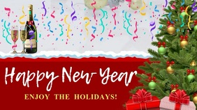 New Year Wish Digital Display Video Template