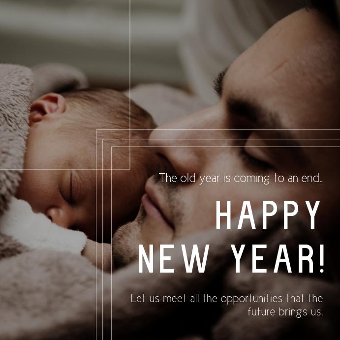 New Year Wish Instagram Post