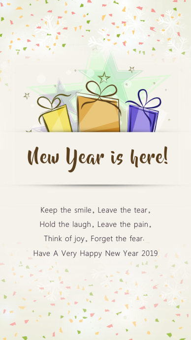 New Year Wish Instagram Story Template