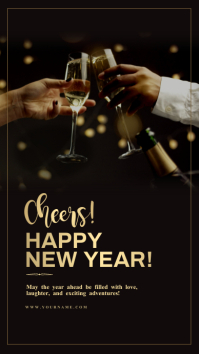 New year wishes Cheers! Template Historia de Instagram