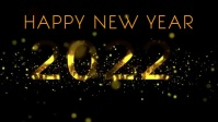 New year wishes Facebook Cover Video (16:9) template