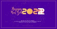 New year wishes facebook ad Template