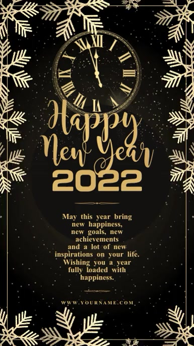 New Year wishes Instagram Story Template