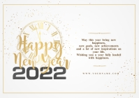 New year wishes Template Postal