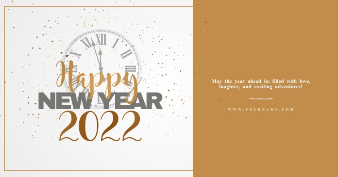New year wishes Template Facebook 共享图片