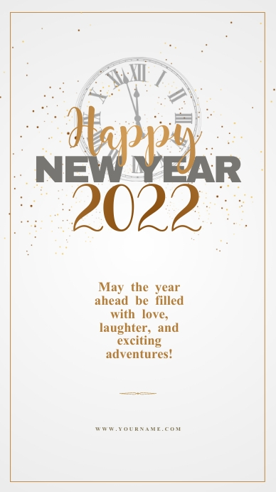 New year wishes Template Instagram Story