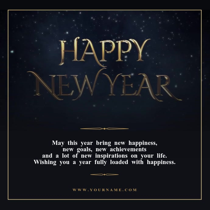 New year wishes Video Template Pos Instagram