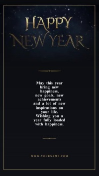 New year wishes Video Template Instagram 故事