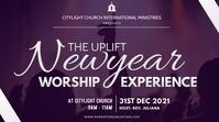 new year worship experience Digital na Display (16:9) template