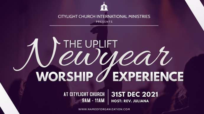 new year worship experience Digitale display (16:9) template
