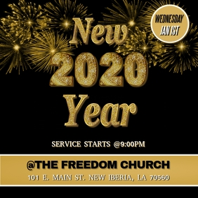 NEW YEARS 2020 CHURCH FLYER