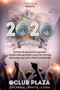 NEW YEARS 2020 CLUB FLYER TEMPLATE
